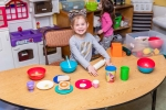 Pretend play in the preschool room